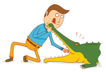 Crocodile Show-Do not try this at home