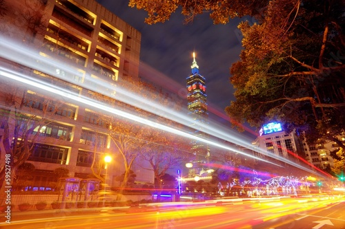 Night view of taipei city, Taiwan