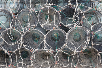 Empty traps for capture seafood