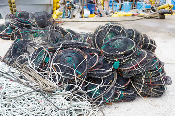 Empty traps for capture fisheries