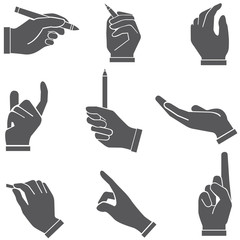 hand sign, hand set