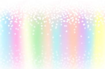 星  虹色の背景