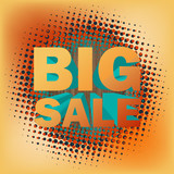 Big sale text on halftone pattern. EPS 10