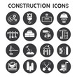 construction icons, buttons