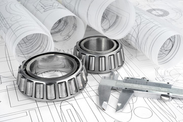 roller bearings, gauge  and drawings