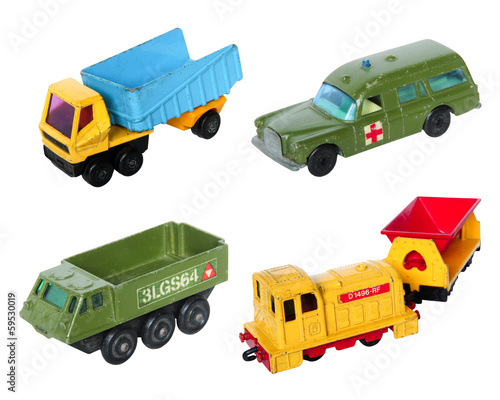 Old cars toy set