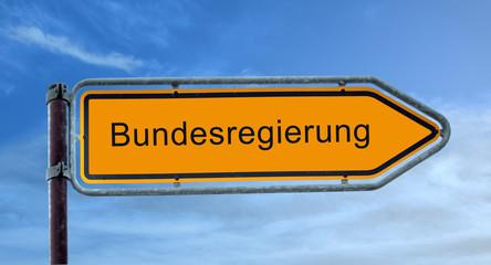 Strassenschild 8 - Bundesregierung