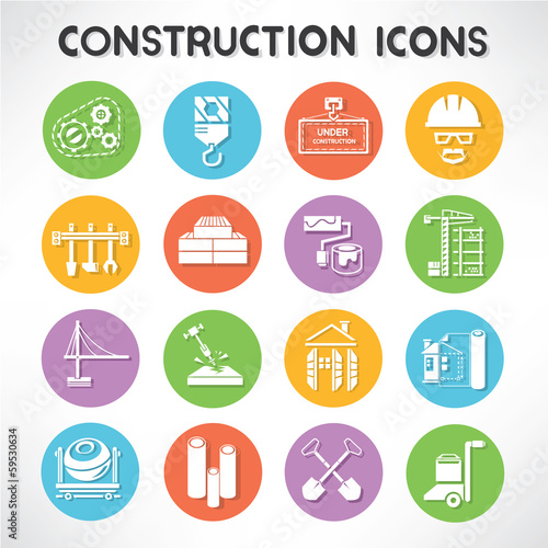 construction buttons set