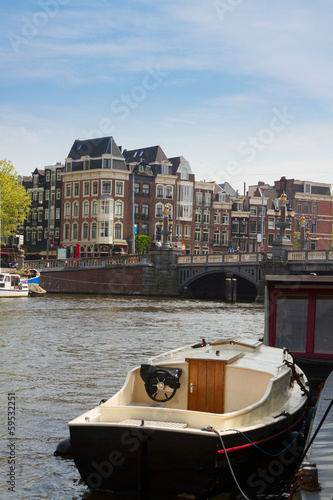 Amstel riverbank,  Amsterdam, Netherlands