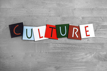 Culture sign for travel, the arts, tourism & tradition