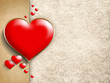 Valentine's Day - background of greeting card template