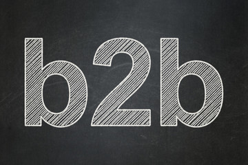 Finance concept: B2b on chalkboard background