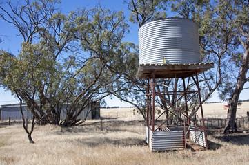Water tank in outback Australia