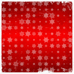 Snowflake pattern on aged card