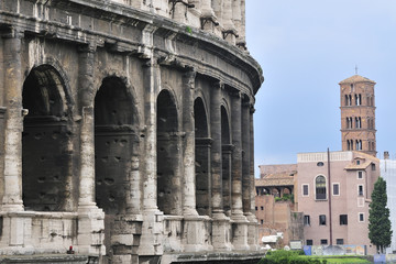 Rome, the colosseum and the ancient city