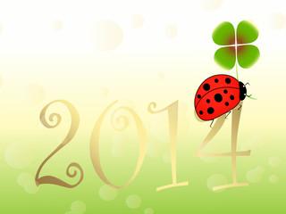 neujahr,sylvester,happy new year, 2014,marienkäfer,kleeblatt