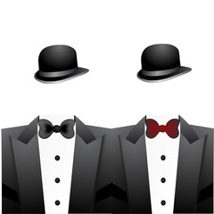 bowler hats and tuxedos