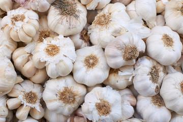 Garlic on market stall