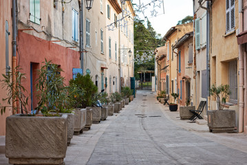 Street in Saint Tropez, France