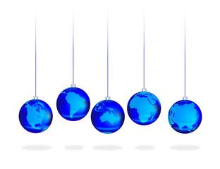 Синие шары континенты