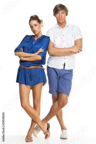 Standing young couple
