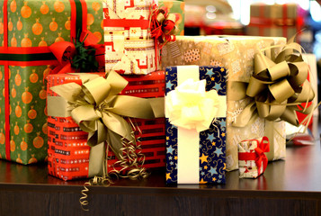 Mix of beautiful well decorated present boxes