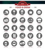 Food and Restaurant icons set,Gray version,vector