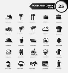 Food and Restaurant icons set,Black version,vector