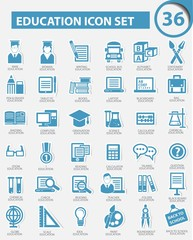 Education icon set,vector