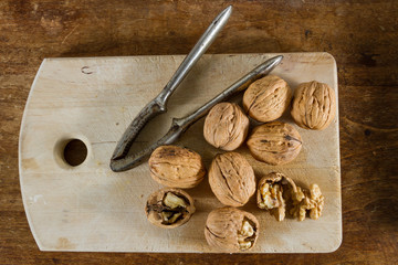Autumn fruits: walnuts