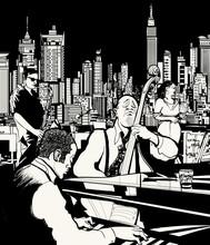 Banda de jazz en Nueva York