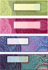 Vector decorative options horizontal backgrounds for flyers