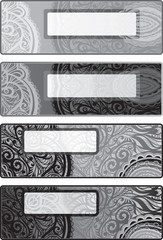 Vector decorative options backgrounds for flyers. black-white