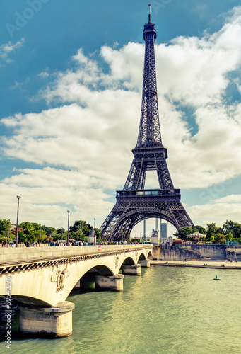 Obraz na Plexi The Eiffel tower in Paris