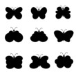 butterflies set vector illustration
