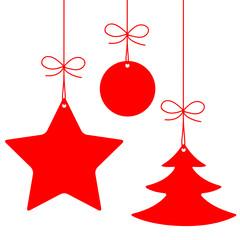 Etiquettes (étoile sapin boule joyeuses fêtes noël joyeux)
