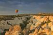 Balloons in Cappadocia over the hills