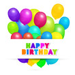 Colorful Vector Balloons - Happy Birthday Background