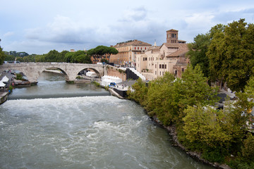 The Tiber Island and the bridge Cestius