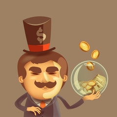 Banker. Vector format