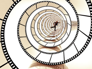 movie strip spiral