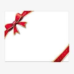 Carte cadeau, noeud rouge