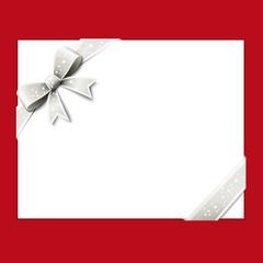 Carte cadeau, noeud blanc