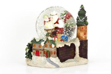 Palla Vetro con Neve