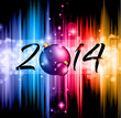 2014 Christmas and New Yaer Colorful Background