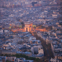 Paris from top view