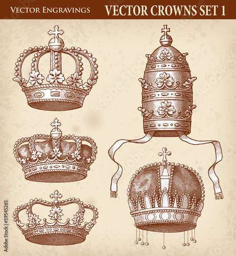Antique Crown Illustrations