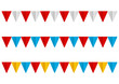 Set of color paper flags