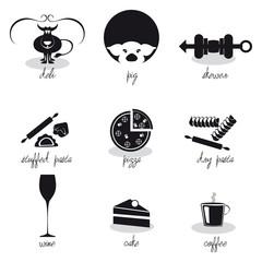Icone par la gastronomia