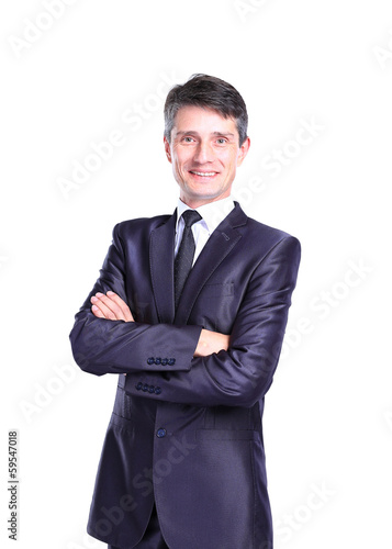 Portrait of a happy senior business man smiling